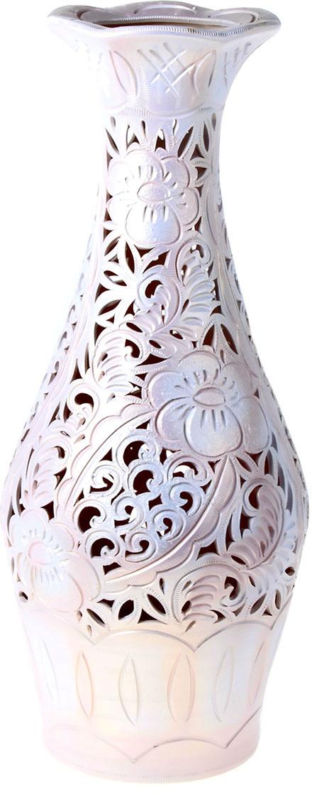 Ваза Керамика ручной работы Ромашка, 198718, белый, 20 х 64 см