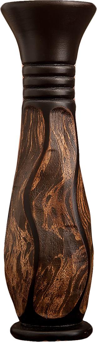 "Ваза ""Контраст"", 3256972, коричневый, 10 х 10 х 35 см"