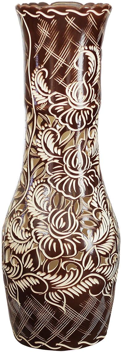 Ваза Керамика ручной работы Даша, 2733495, коричневый ваза керамика ручной работы лиана цвет светло коричневый средняя 1130557