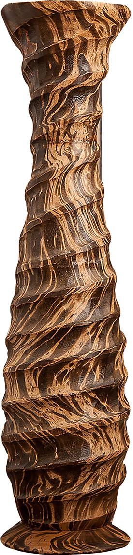 "Ваза ""Спираль"", 3257009, коричневый, бежевый, 13 х 13 х 50 см"