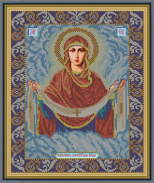 Набор для вышивания Galla Collection «Икона Покров Божией Матери», 27x32 см икона юлия бисер