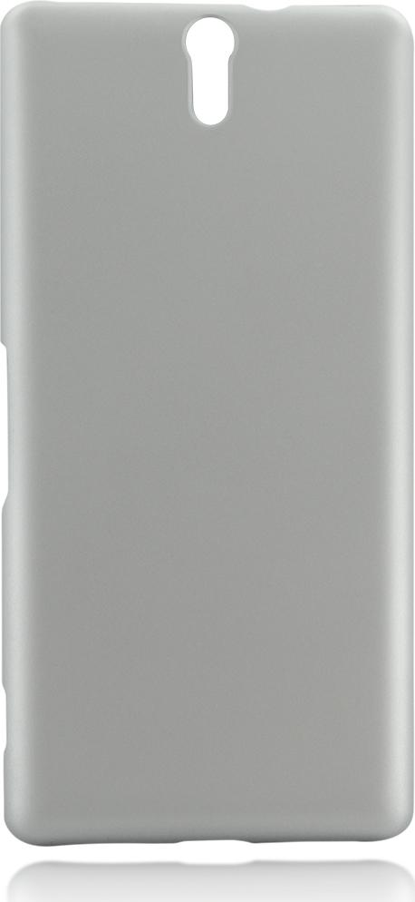 Чехол Brosco Soft-Touch для Sony Xperia C5 Ultra, серебристый