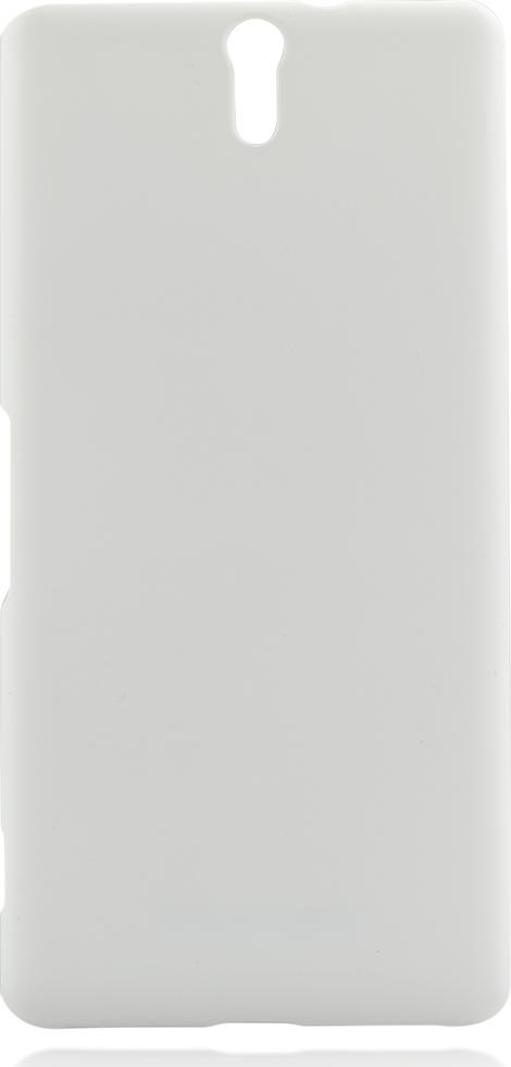 Чехол Brosco Soft-Touch для Sony Xperia C5 Ultra, белый