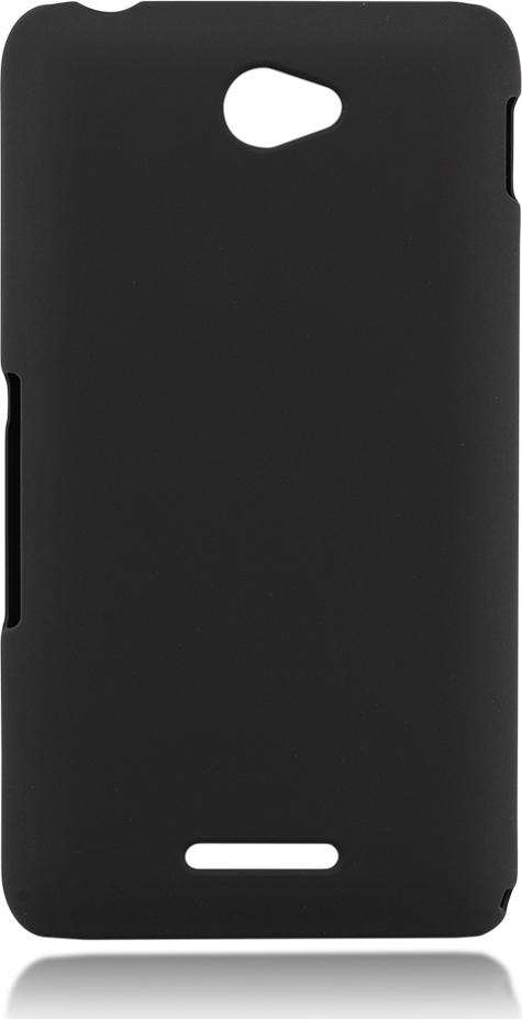 Чехол Brosco для Sony Xperia E4, черный чехол для sony i4213 xperia 10 plus brosco силиконовая накладка черный