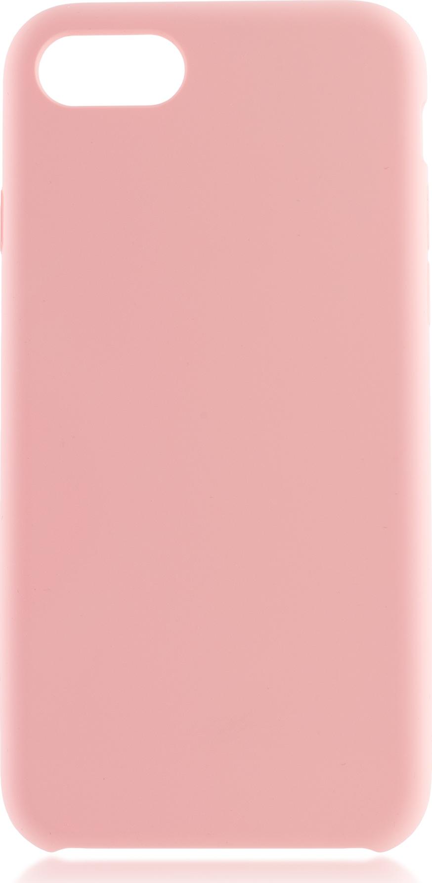 Чехол Brosco Softrubber для Apple iPhone 7, розовый цена и фото