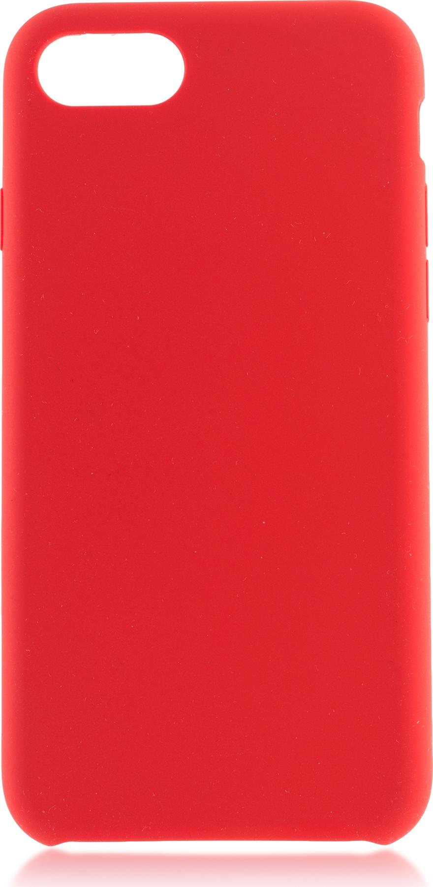 Чехол Brosco Softrubber для Apple iPhone 7, красный цена и фото