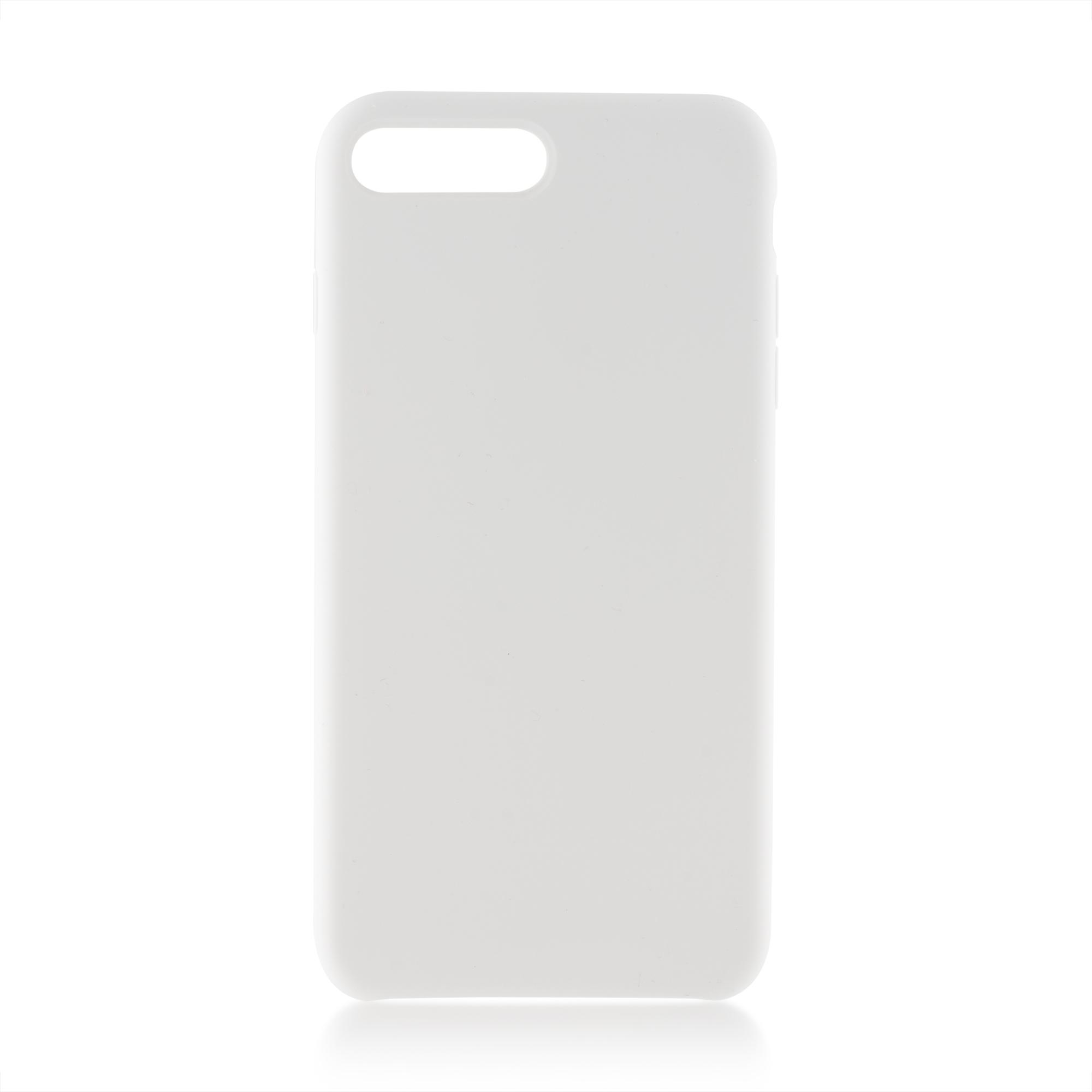 Чехол Brosco Softrubber для Apple iPhone 8 Plus, белый аксессуар чехол для apple iphone 6 brosco soft rubber black ip6 softrubber black
