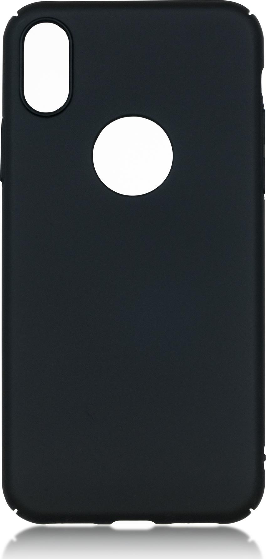 Чехол Brosco 4Side Soft-Touch для Apple iPhone X, черный