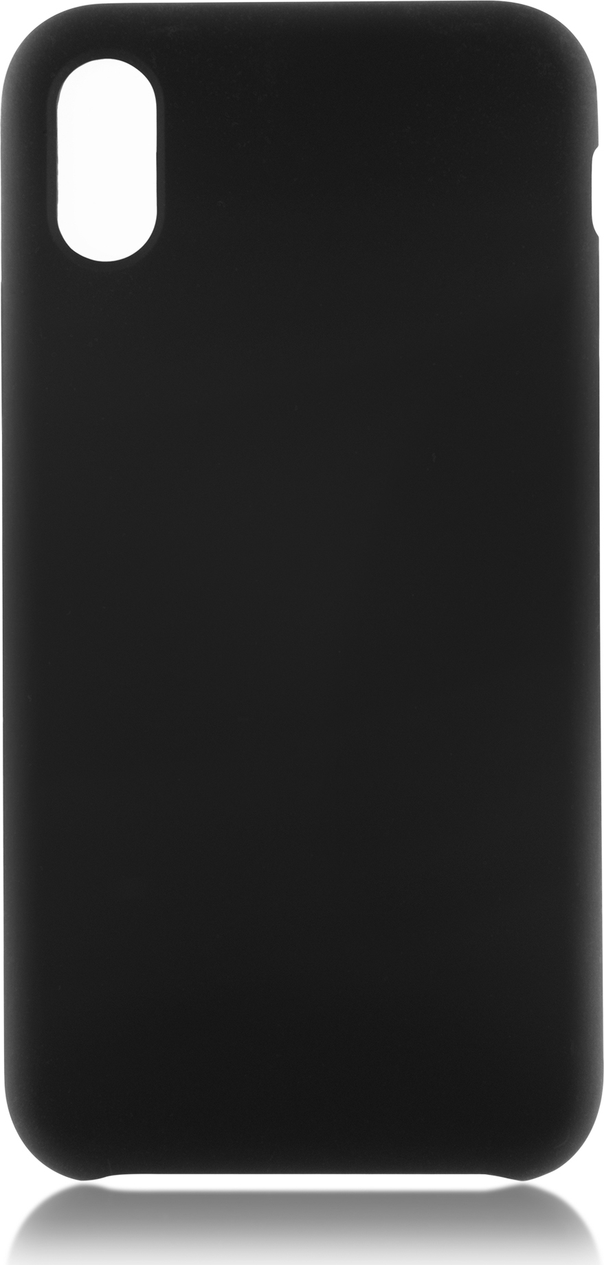 Чехол Brosco Softrubber для Apple iPhone X, черный аксессуар чехол для apple iphone 6 brosco soft rubber black ip6 softrubber black