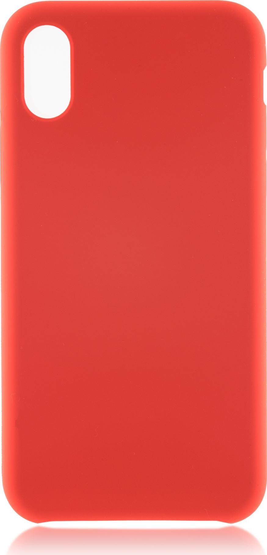 Чехол Brosco Softrubber для Apple iPhone X, красный цена и фото