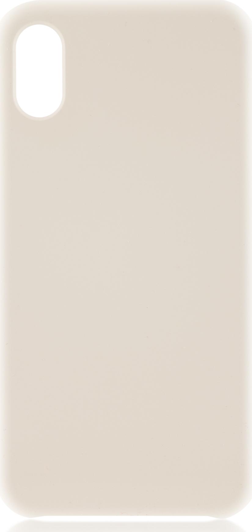 Чехол Brosco Softrubber для Apple iPhone X, белый аксессуар чехол для apple iphone 6 brosco soft rubber black ip6 softrubber black