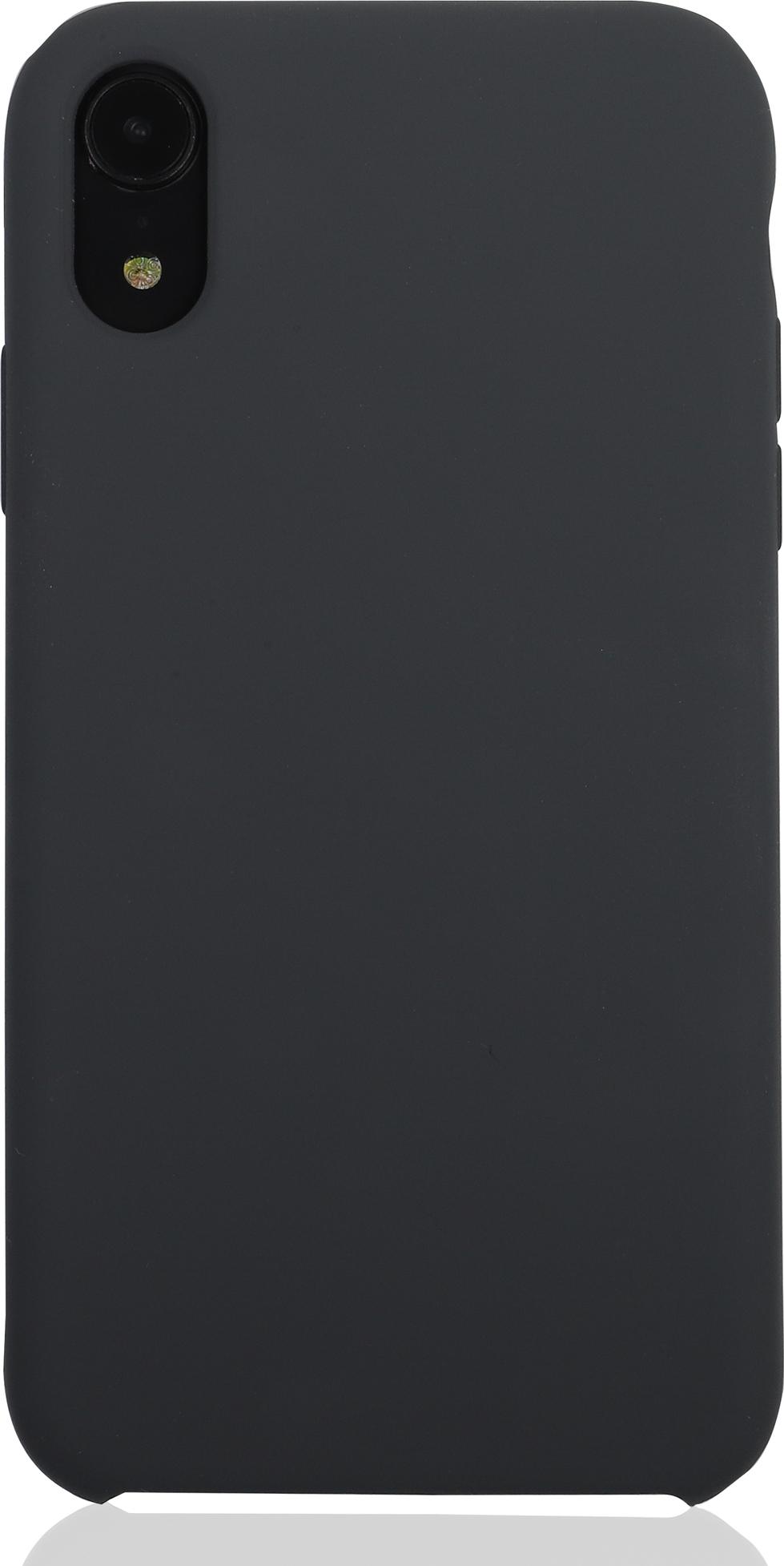 Чехол Brosco Softrubber для Apple iPhone XR, серый
