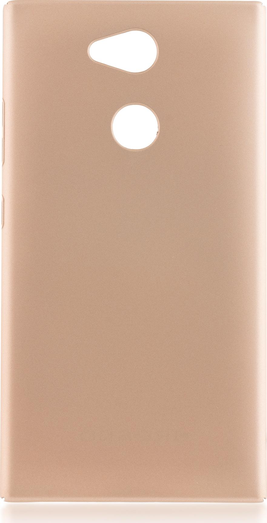 Чехол Brosco 4Side Soft-Touch для Sony Xperia L2, золотой