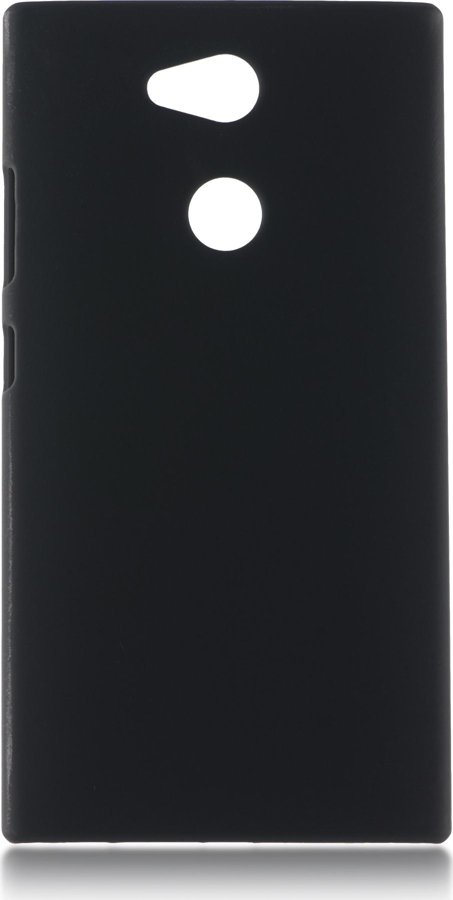 Чехол Brosco Soft-Touch для Sony Xperia L2, черный чехол для sony i4213 xperia 10 plus brosco силиконовая накладка черный