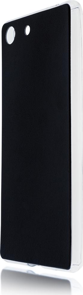Чехол Brosco Leather TPU для Sony Xperia M5, черный стоимость