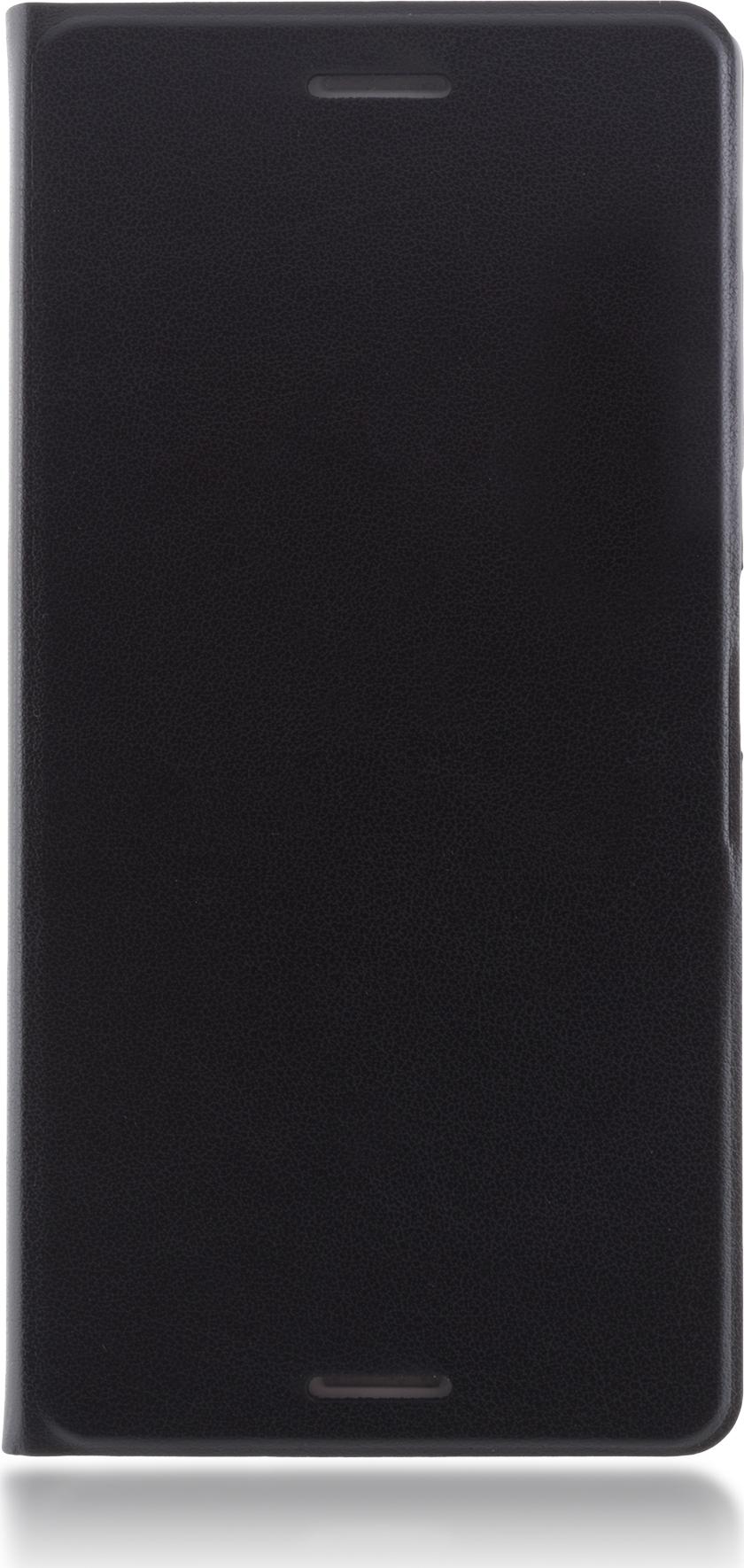 Чехол Brosco Book для Sony Xperia X, черный цена и фото