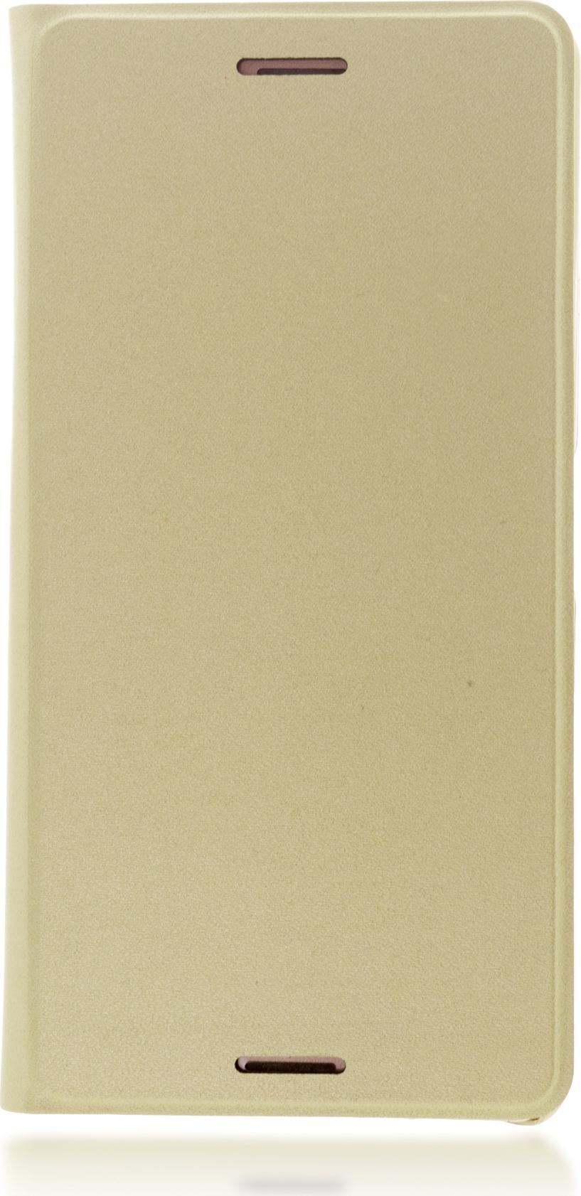 Чехол Brosco Book для Sony Xperia X, золотой цена и фото