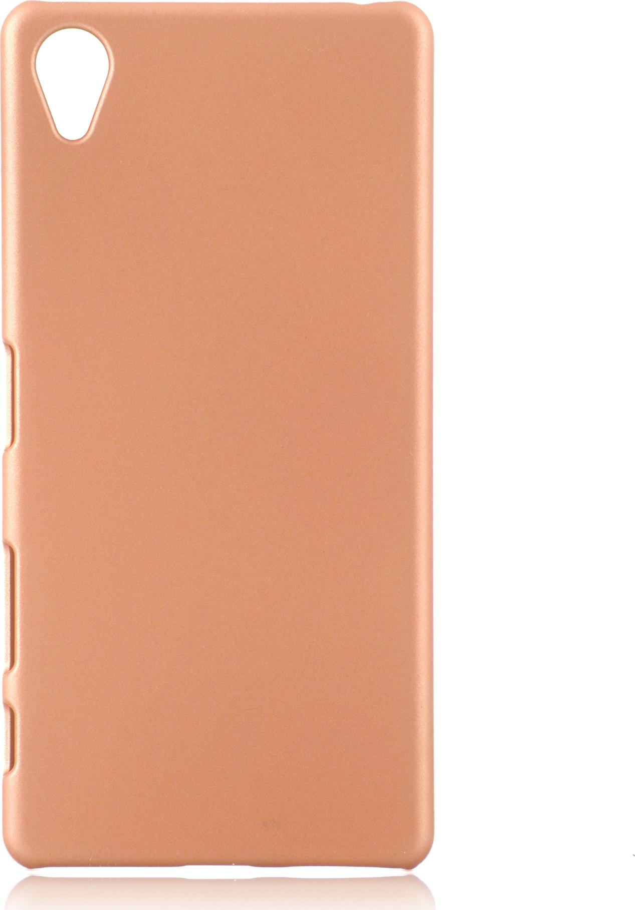 Чехол Brosco Soft-Touch для Sony Xperia X, розовый цена