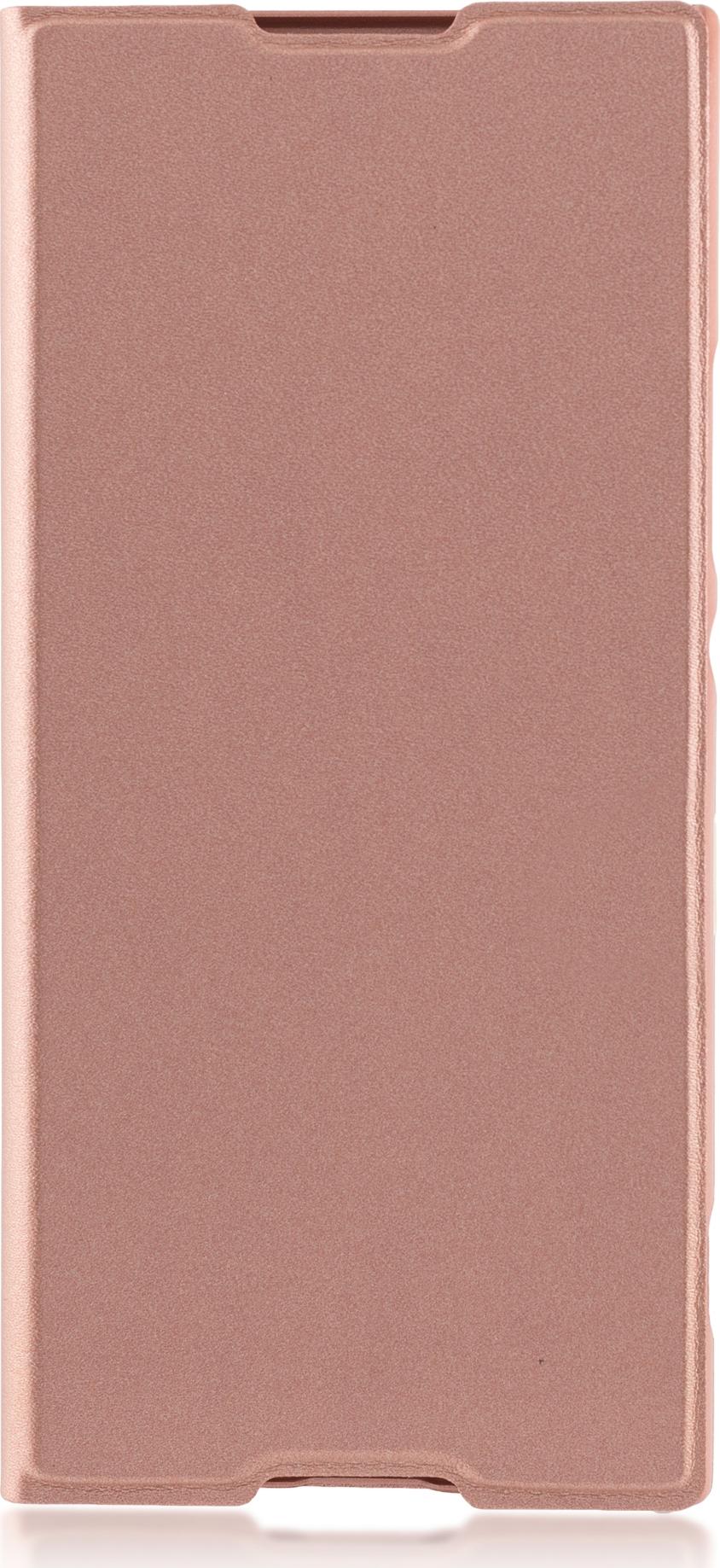 Чехол Brosco Book для Sony Xperia XA1, розовый супер тонкий чехол книжка brosco книжка pu белая