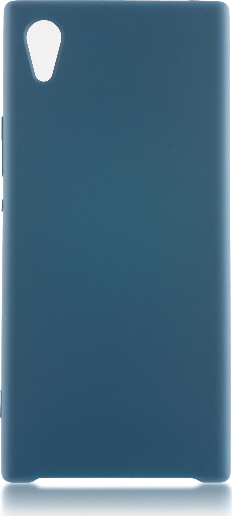 Чехол Brosco Softrubber для Sony Xperia XA1, бирюзовый