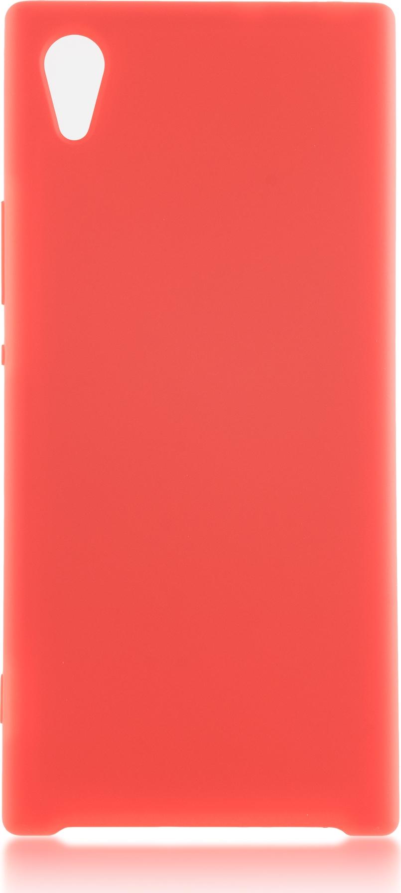 Чехол Brosco Softrubber для Sony Xperia XA1, красный цена и фото