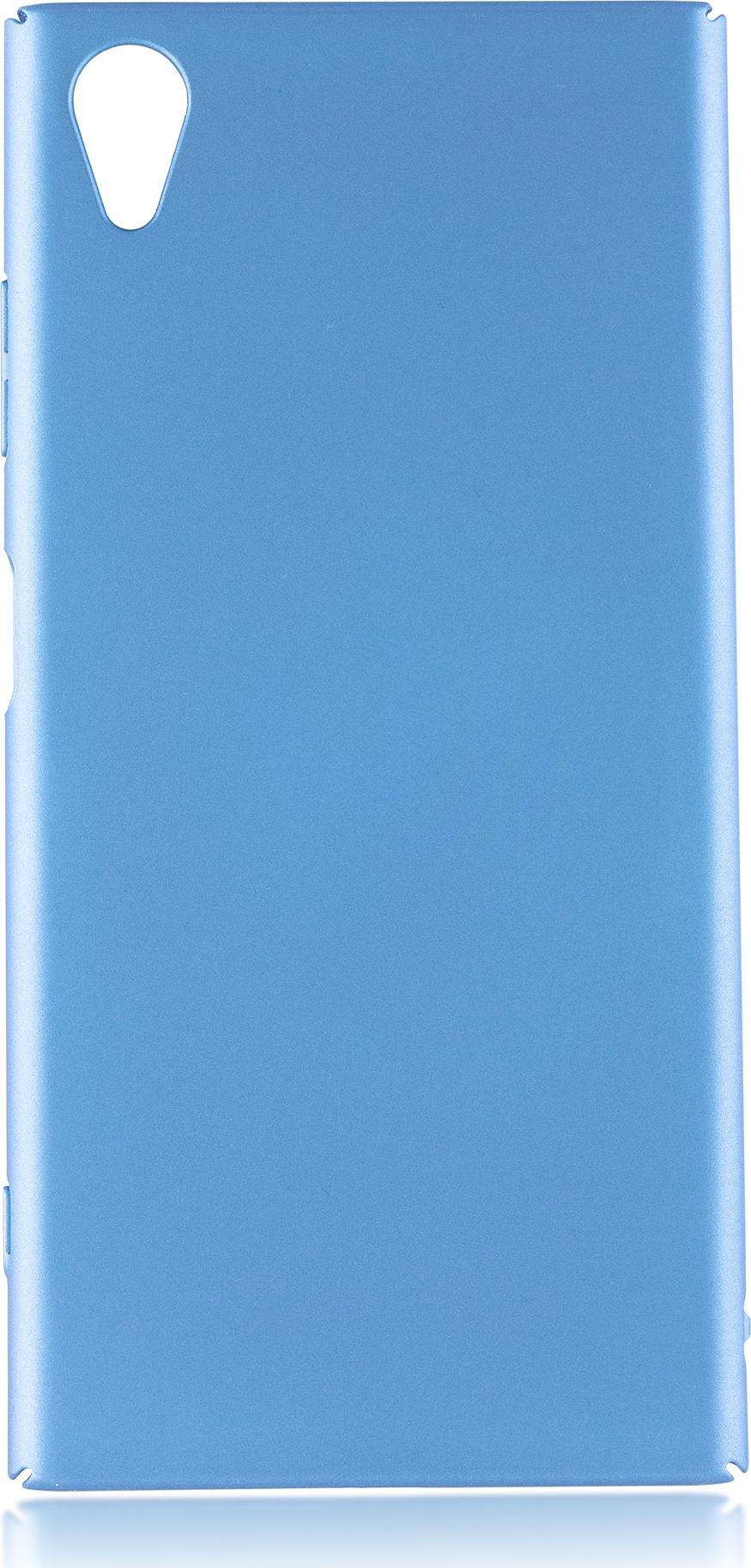 Чехол Brosco 4Side Soft-Touch для Sony Xperia XA1 Plus, голубой цена
