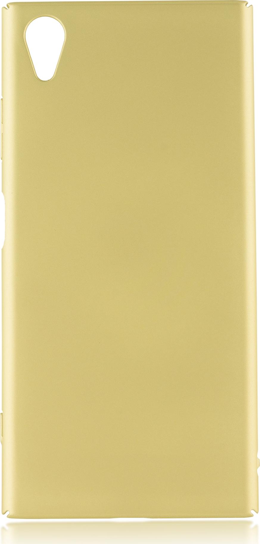 Чехол Brosco 4Side Soft-Touch для Sony Xperia XA1 Plus, золотой чехол для sony i4213 xperia 10 plus brosco силиконовая накладка черный