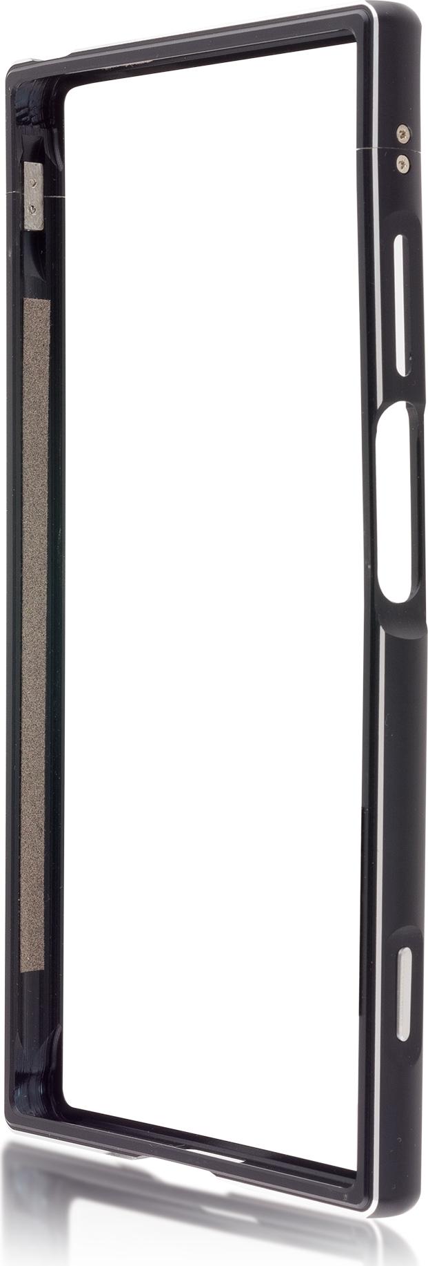 Чехол Brosco BMP для Sony Xperia XA1 Plus, черный чехол для sony g3412 xperia xa1 plus brosco накладка черный