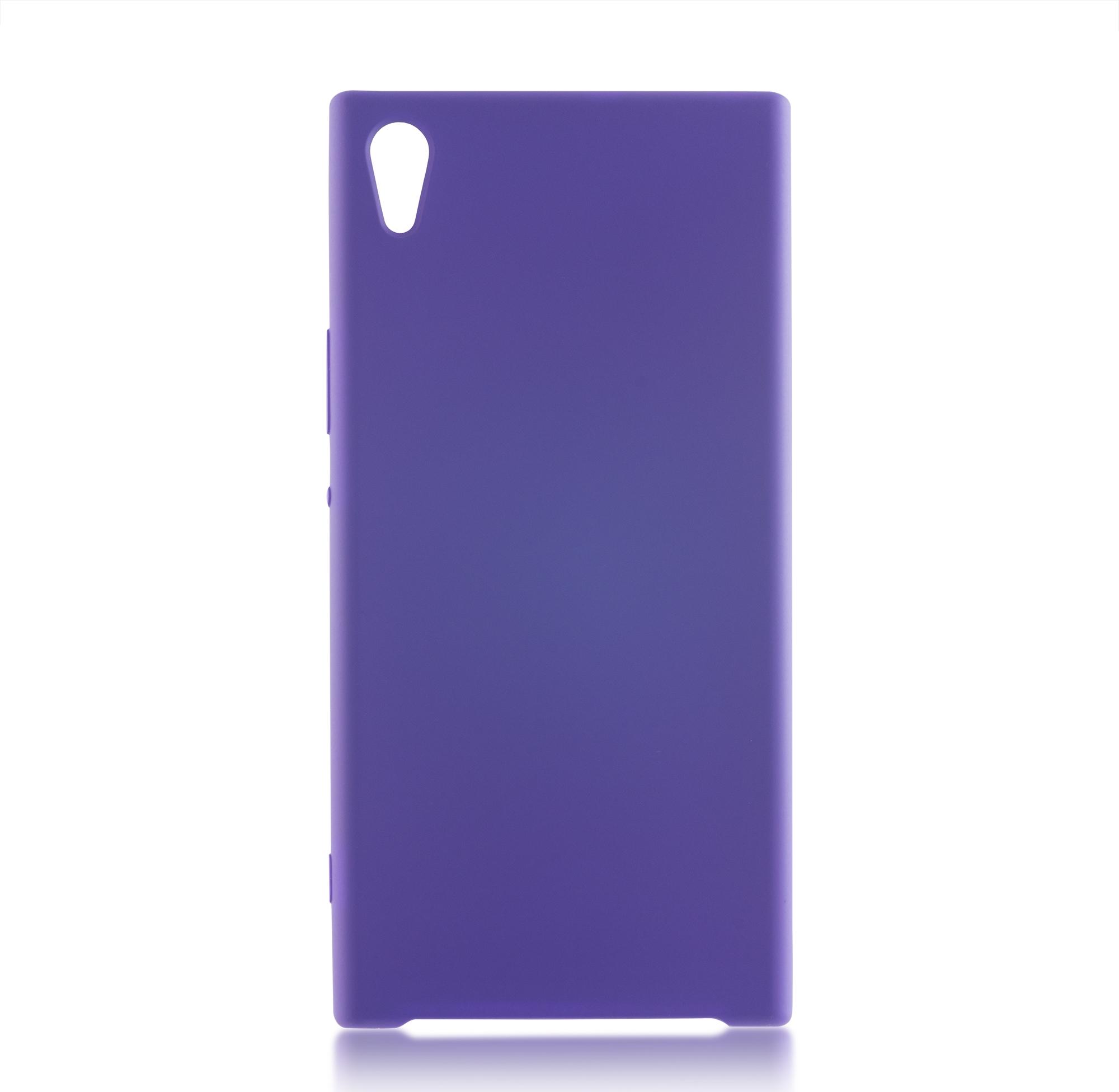 Чехол Brosco Softrubber для Sony Xperia XA1 Ultra, фиолетовый цена и фото