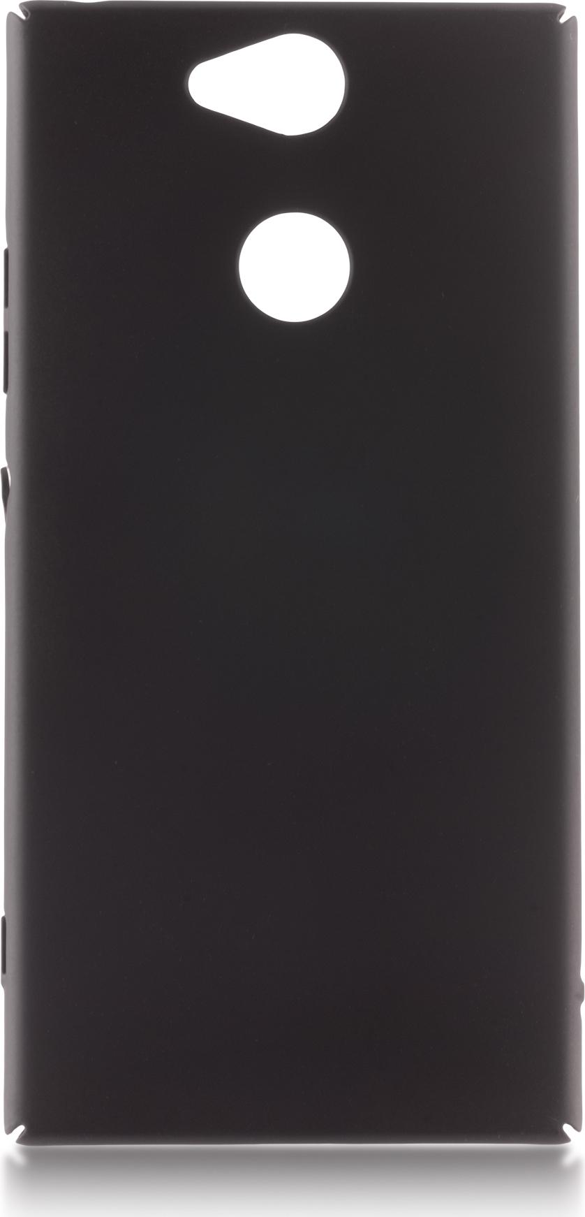 Чехол Brosco 4Side Soft-Touch для Sony Xperia XA2, черный чехол для sony i4213 xperia 10 plus brosco силиконовая накладка черный