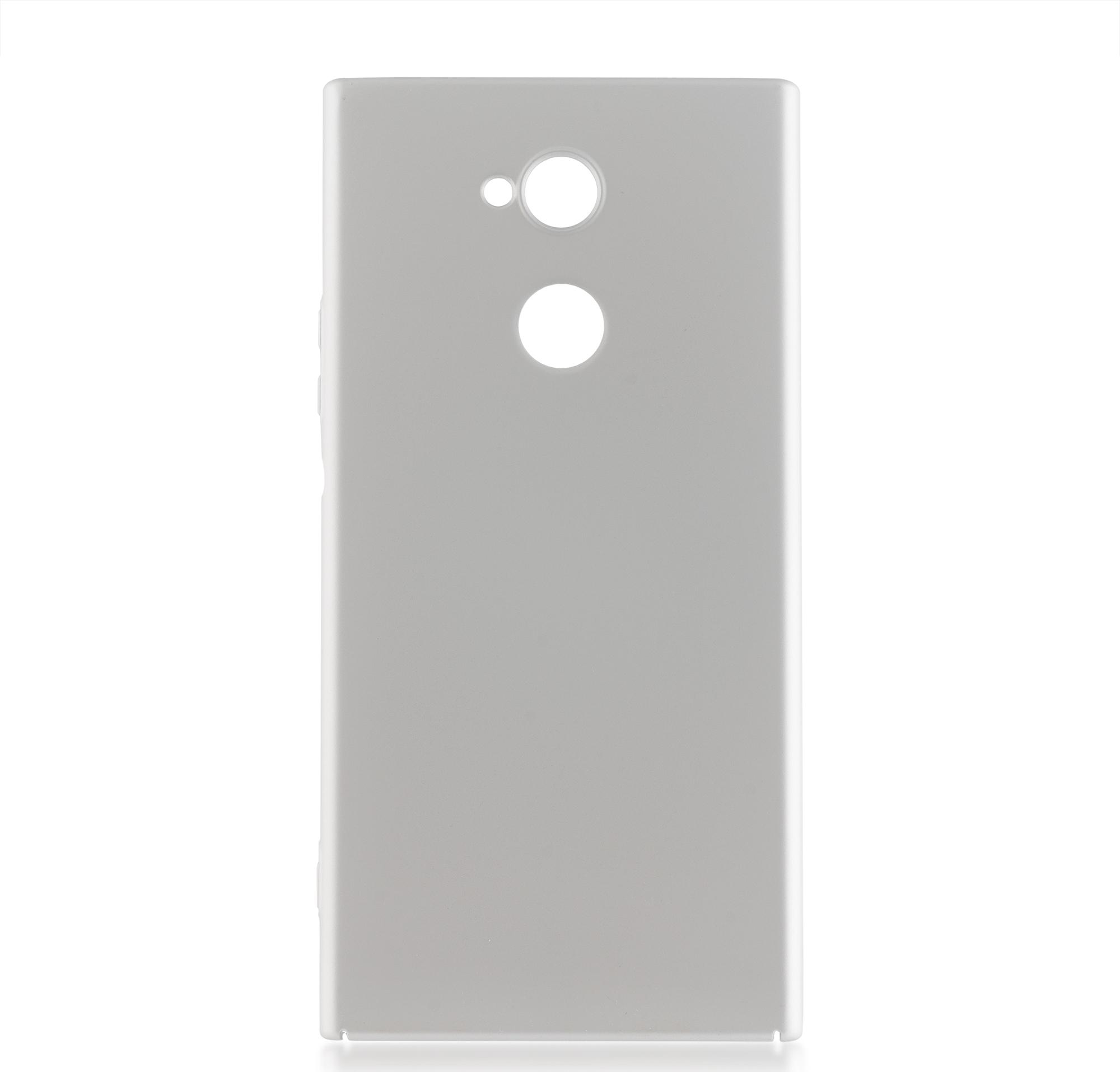 Чехол Brosco 4Side Soft-Touch для Sony Xperia XA2 Ultra, серебристый чехол для sony h4113 xperia xa2 brosco накладка розовый
