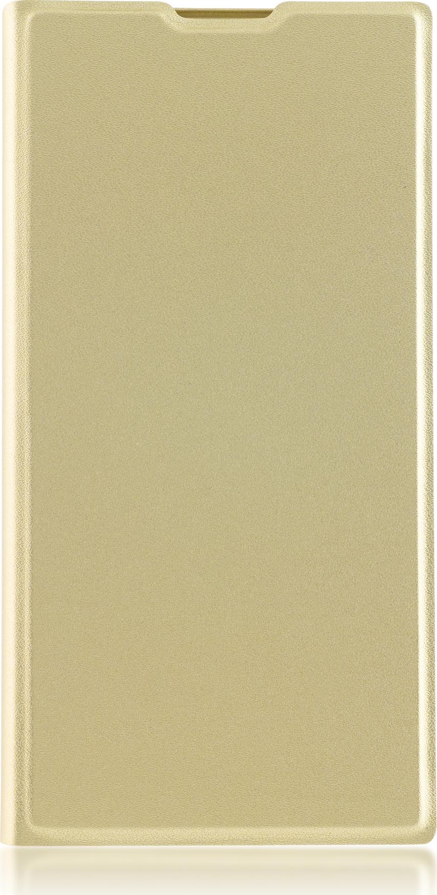 Чехол Brosco Book для Sony Xperia XA2 Ultra, золотой