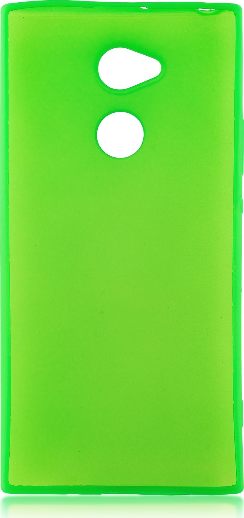 Чехол Brosco Colourful для Sony Xperia XA2 Ultra, зеленый чехол для sony h4113 xperia xa2 dual brosco силиконовая накладка прозрачный
