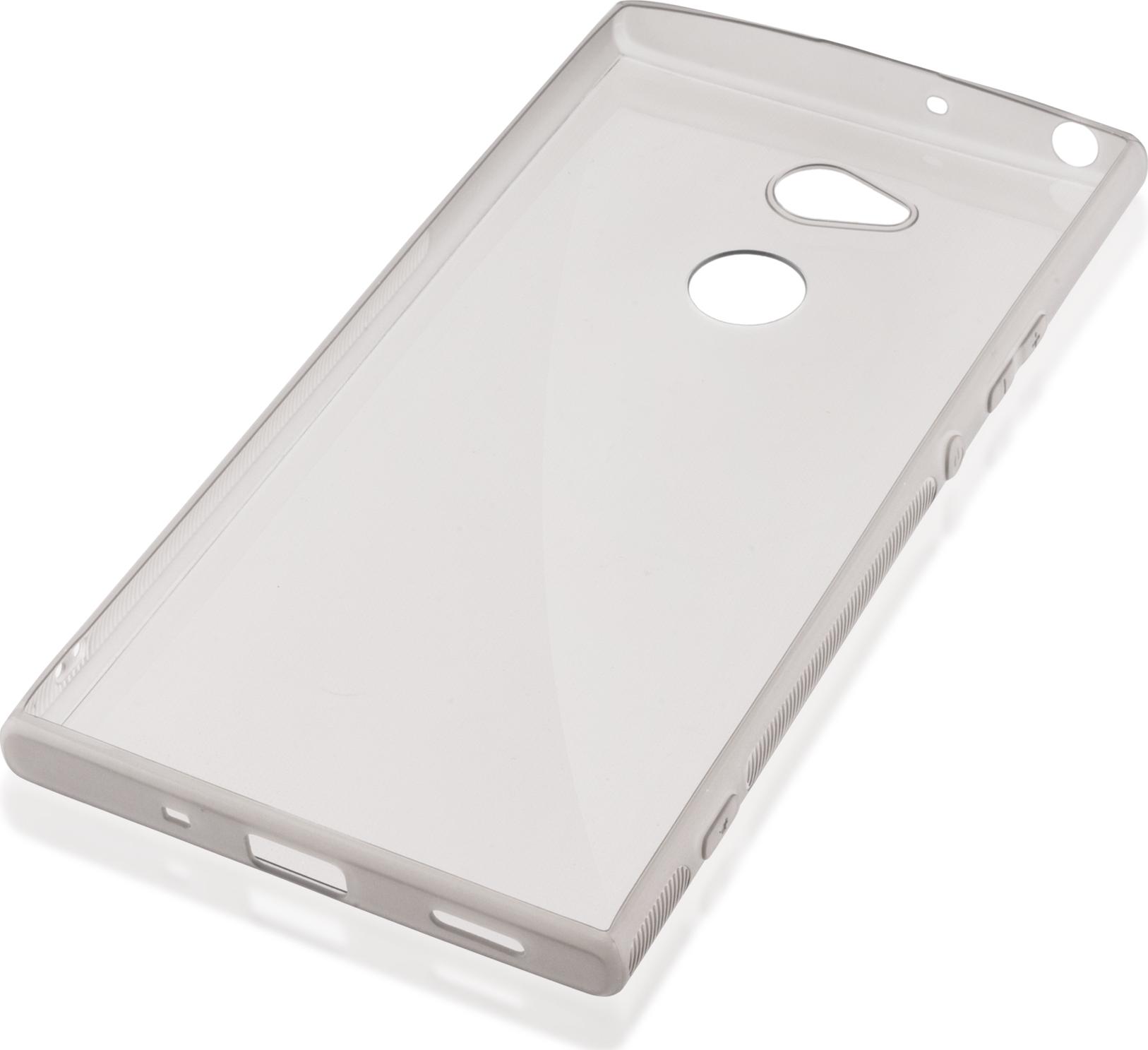 Чехол Brosco New TPU для Sony Xperia XA2 Ultra, черный чехол для сотового телефона brosco для sony xa2 ultra xa2u book gold золотой