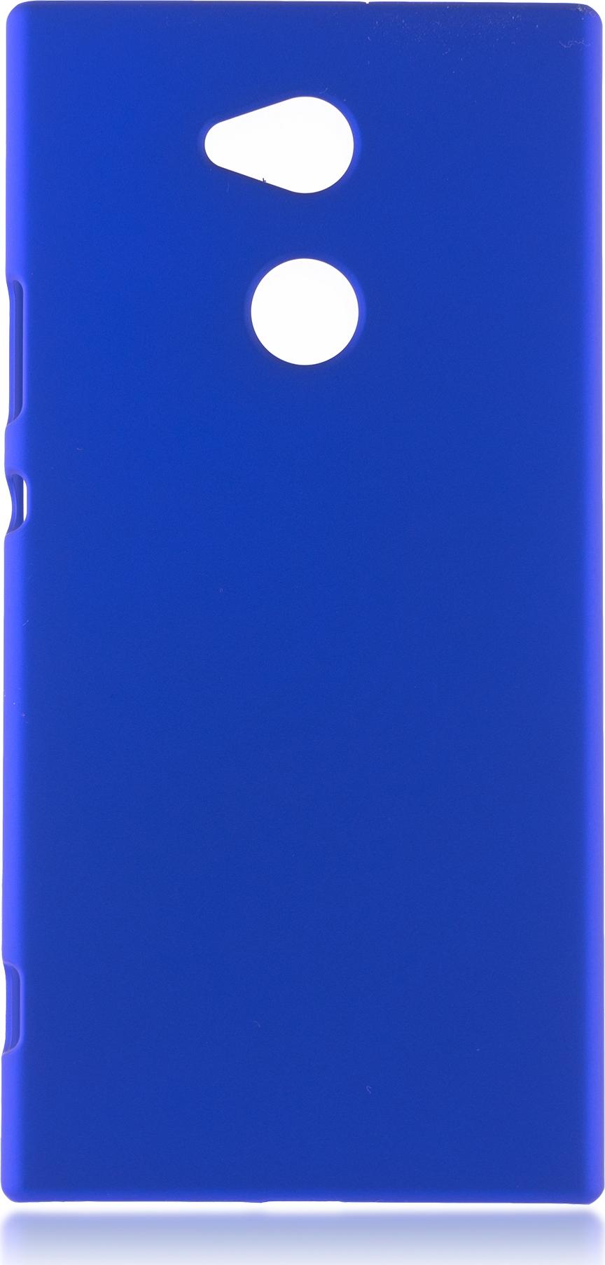 Чехол Brosco Soft-Touch для Sony Xperia XA2 Ultra, темно-синий чехол для сотового телефона brosco для sony xa2 ultra xa2u book gold золотой