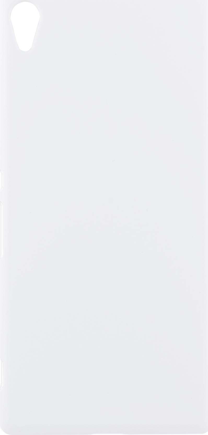 Чехол Brosco Soft-Touch для Sony Xperia XA Ultra, белый чехол книжка gresso канцлер для sony xperia xa ultra черный