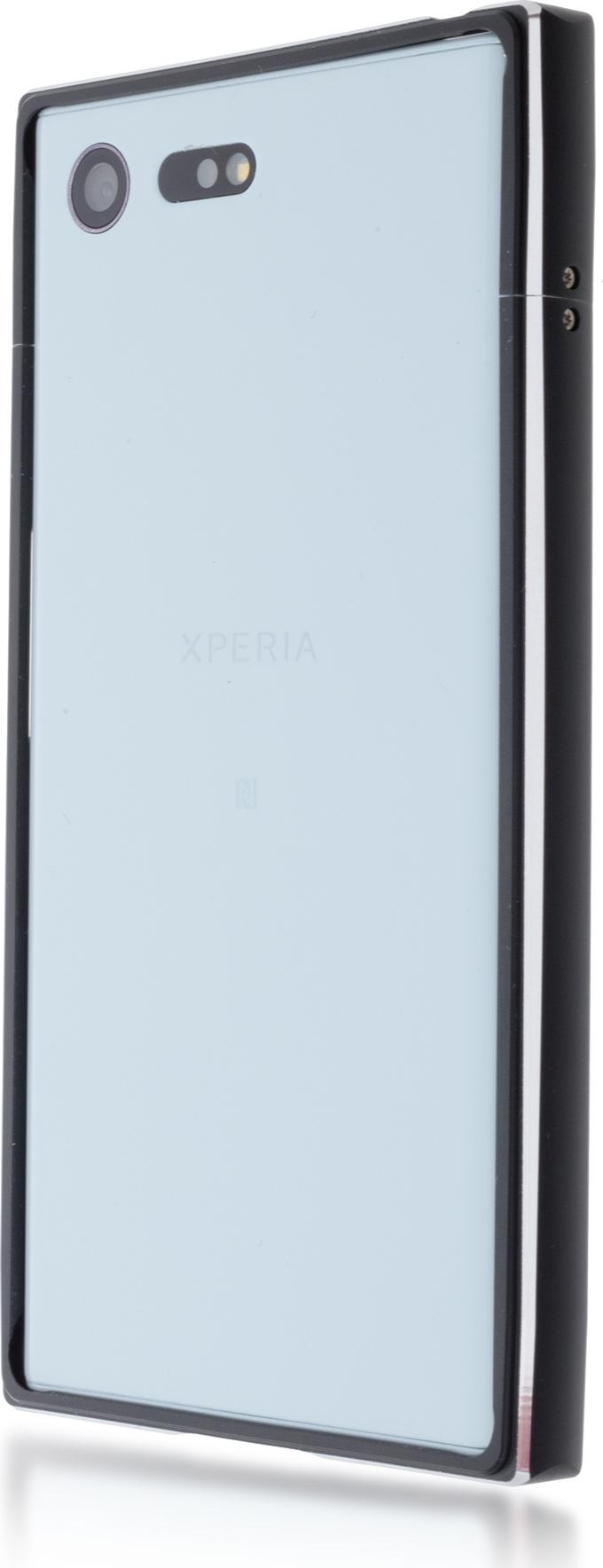 Чехол Brosco BMP для Sony Xperia X Compact, черный чехол для sony i4213 xperia 10 plus brosco силиконовая накладка черный