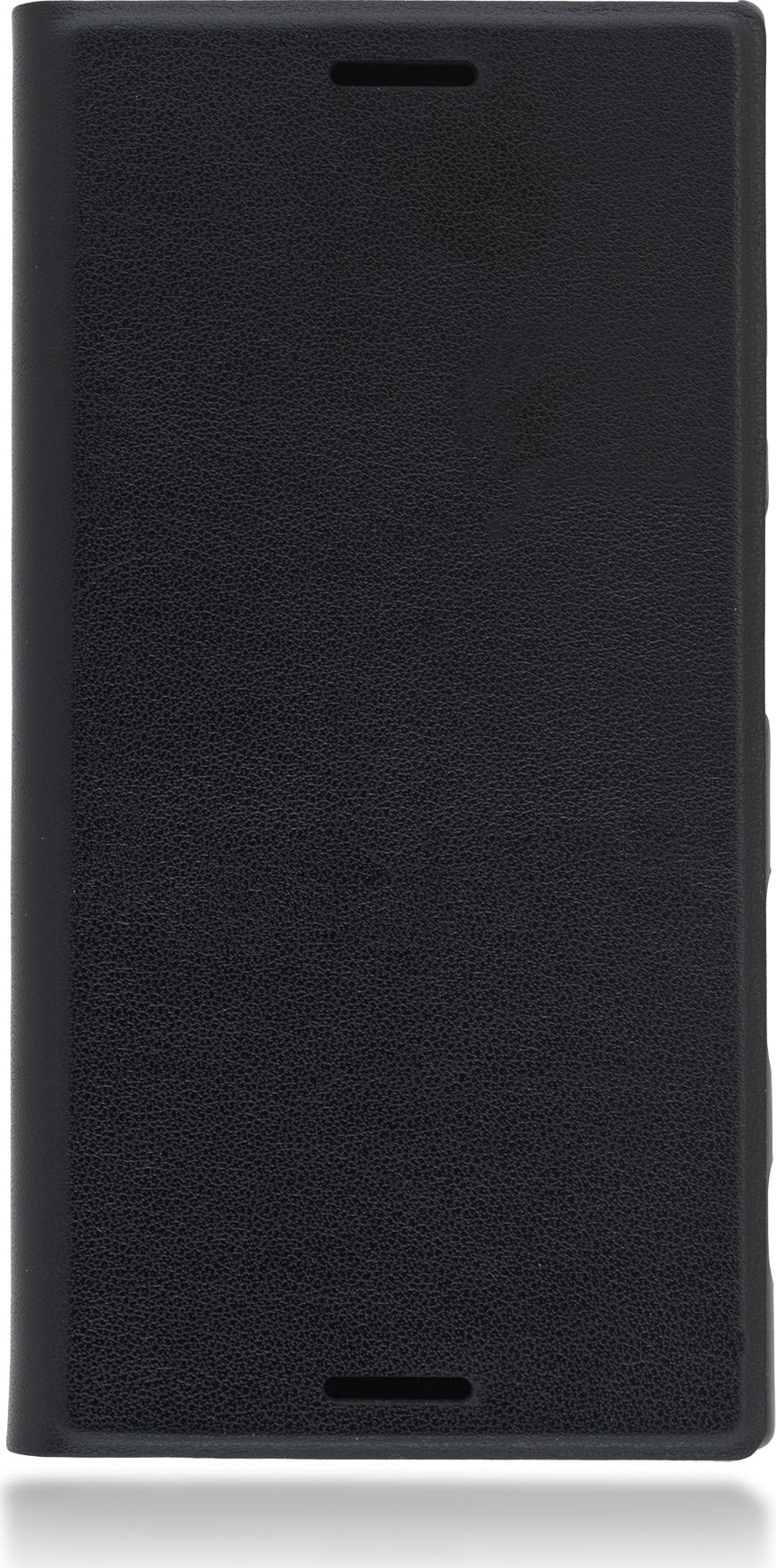 Чехол Brosco Book для Sony Xperia X Compact, черный цена и фото