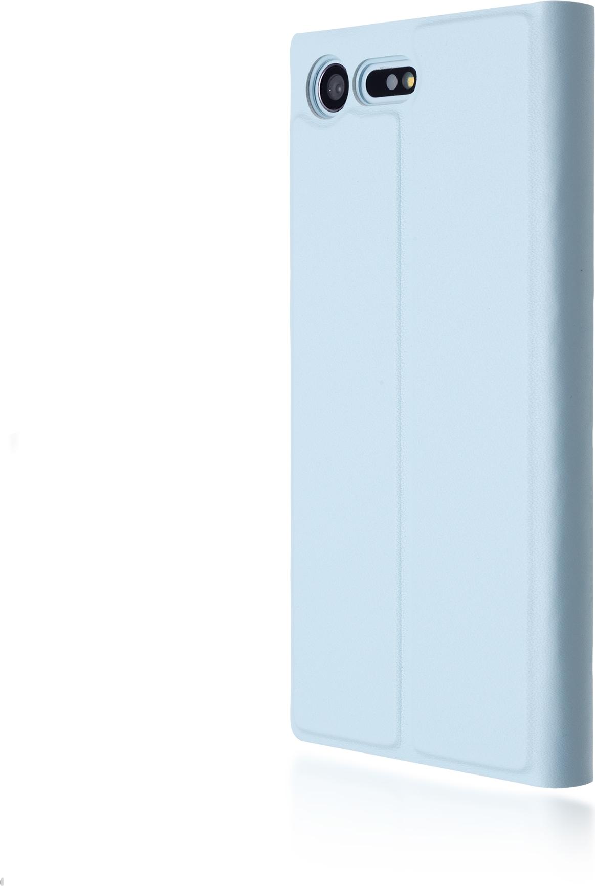 Чехол Brosco Book для Sony Xperia X Compact, голубой цена и фото