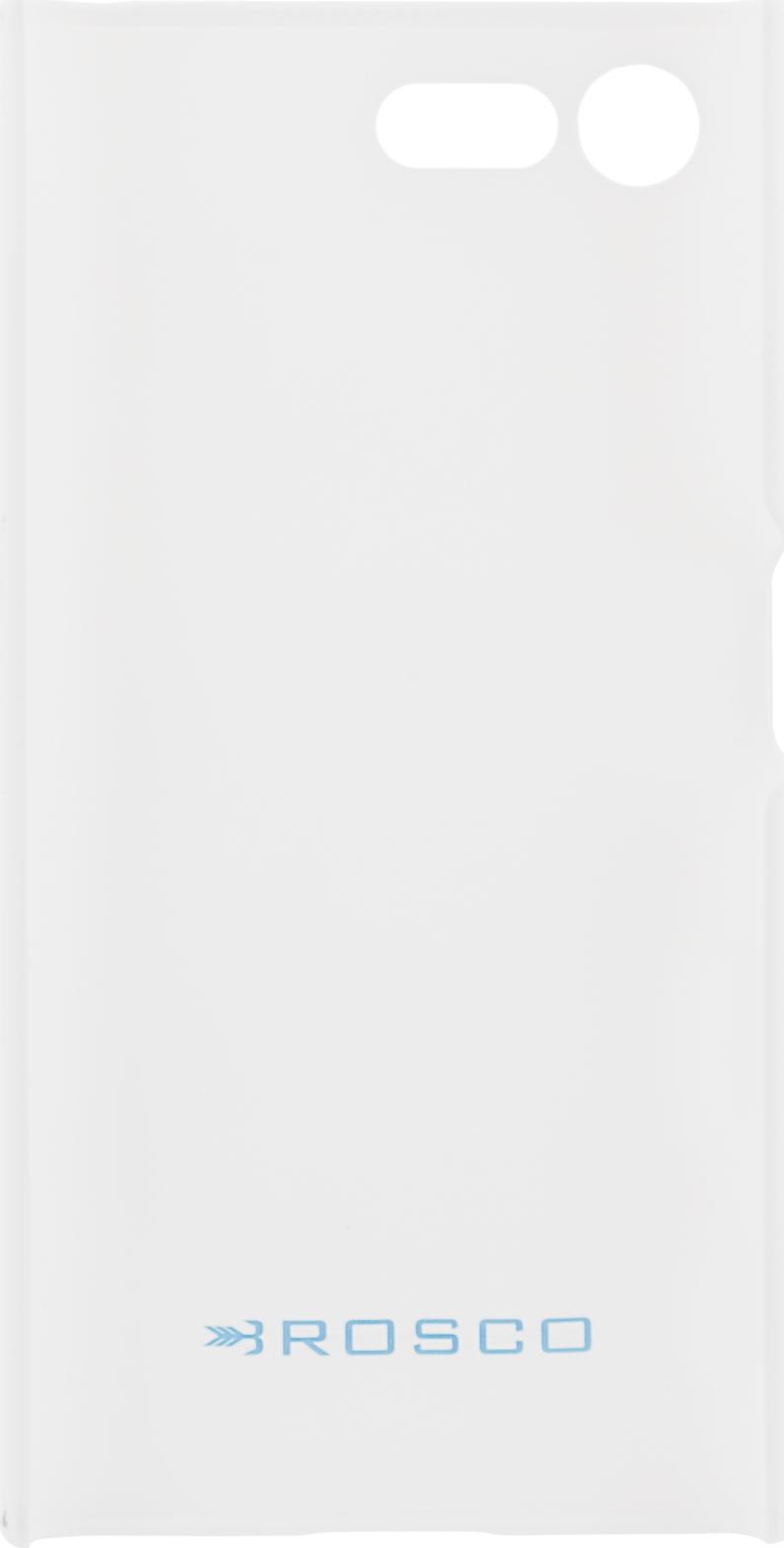 Чехол Brosco Soft-Touch для Sony Xperia X Compact, белый цена