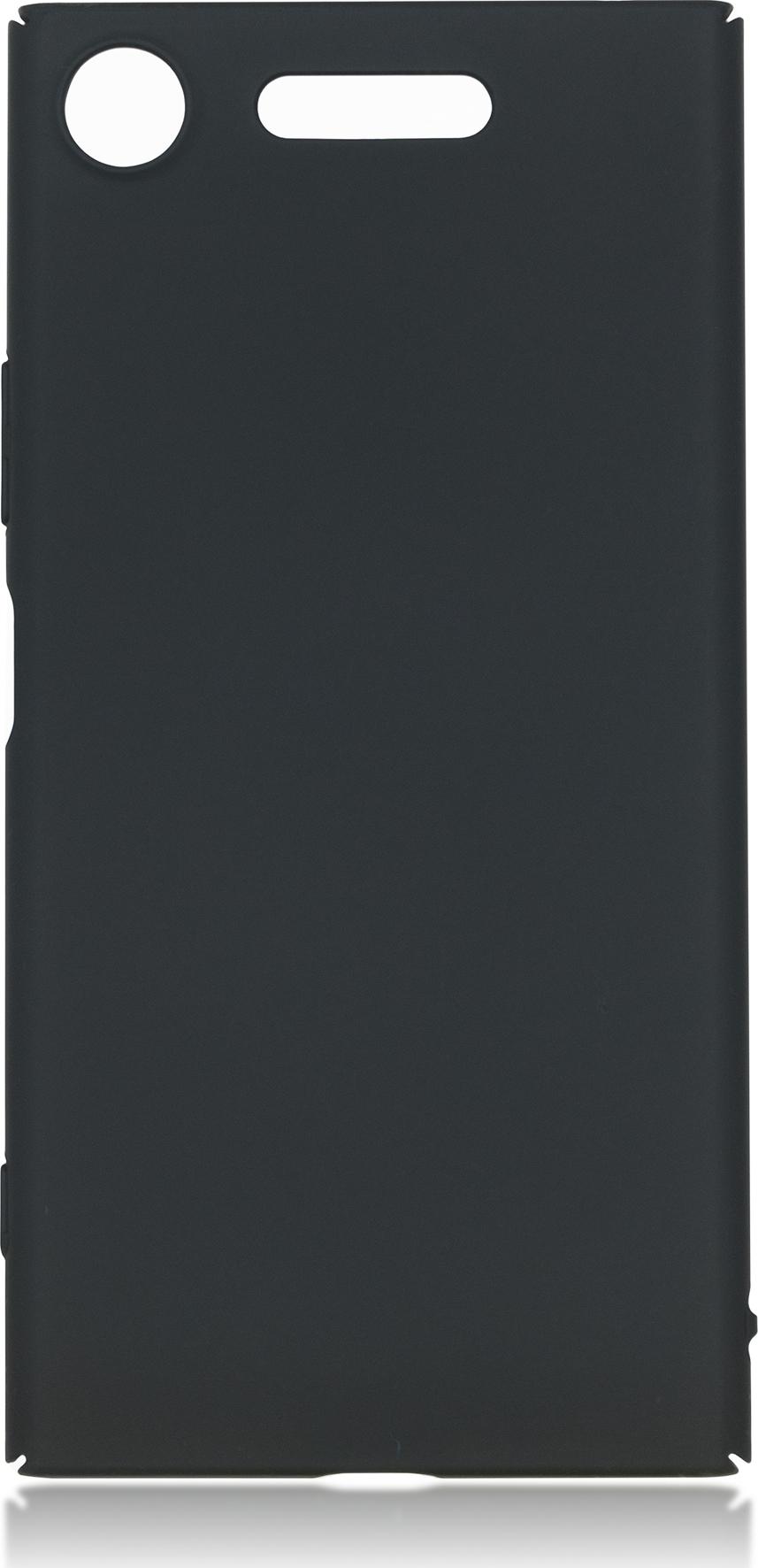 Чехол Brosco 4Side Soft-Touch для Sony Xperia XZ1, черный
