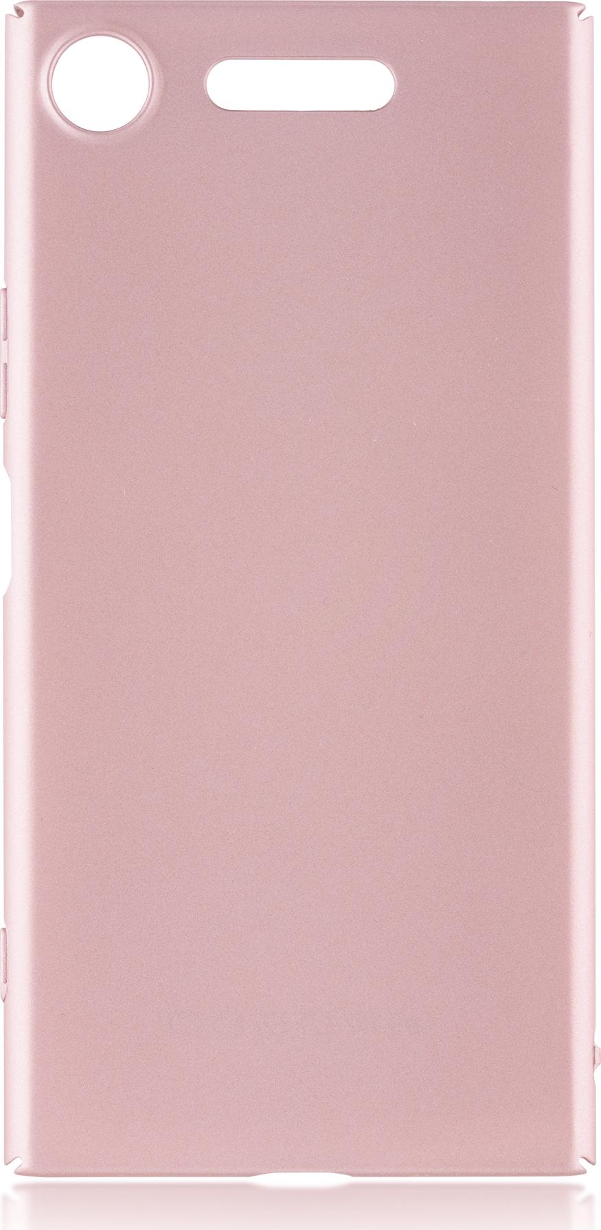 Чехол Brosco 4Side Soft-Touch для Sony Xperia XZ1, розовый
