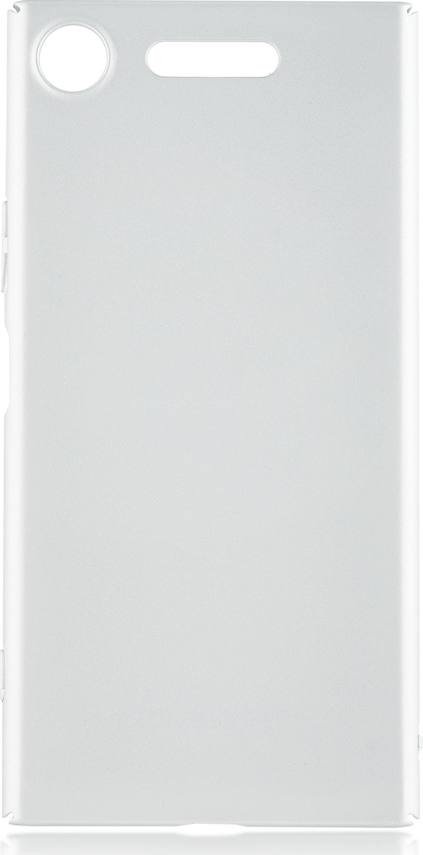 Чехол Brosco 4Side Soft-Touch для Sony Xperia XZ1, серебристый