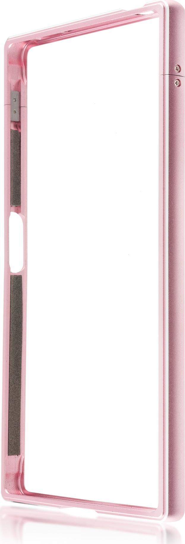 Чехол Brosco BMP для Sony Xperia XZ1, розовый