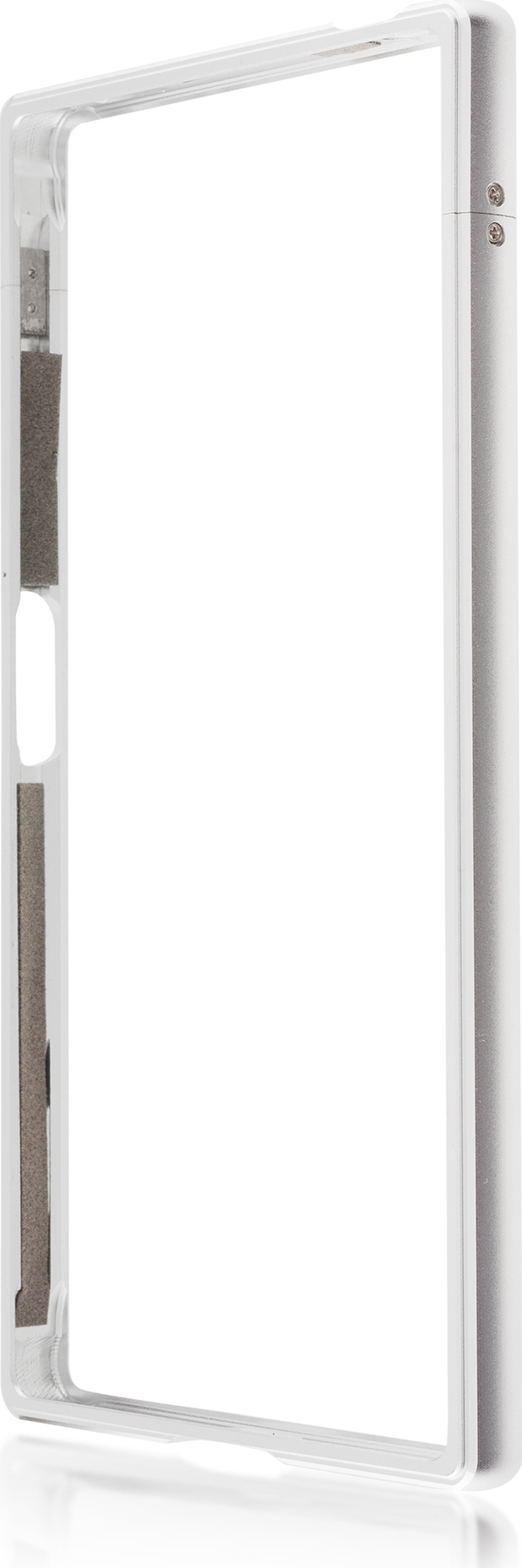 Чехол Brosco BMP для Sony Xperia XZ1, серебристый