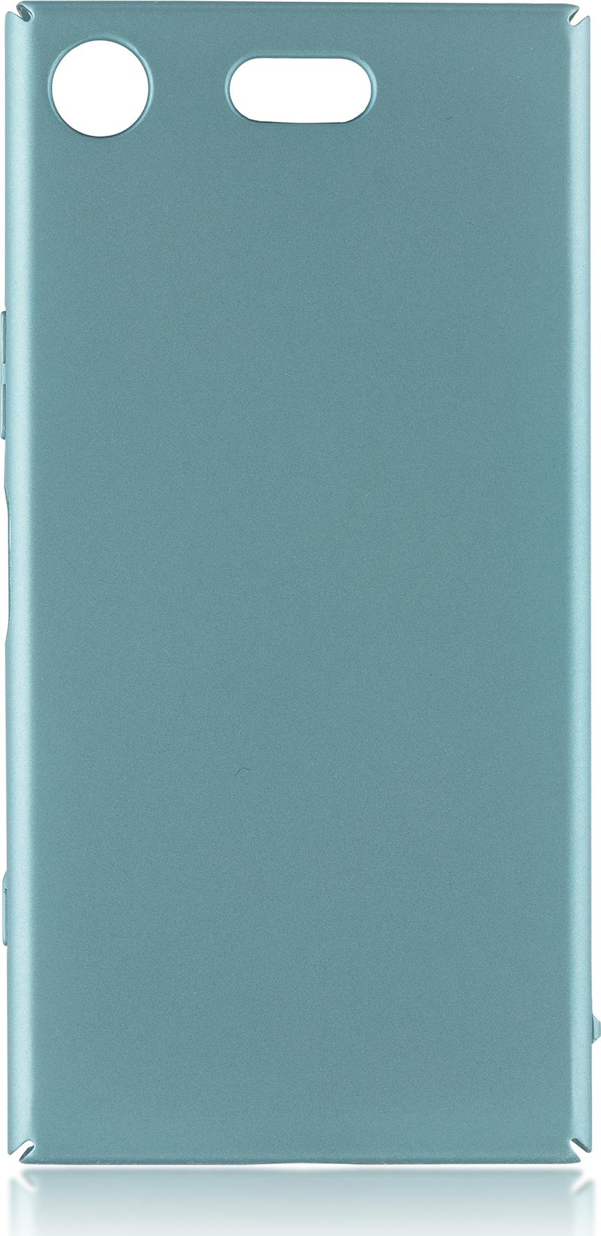 Чехол Brosco 4Side Soft-Touch для Sony Xperia XZ1 Compact, голубой