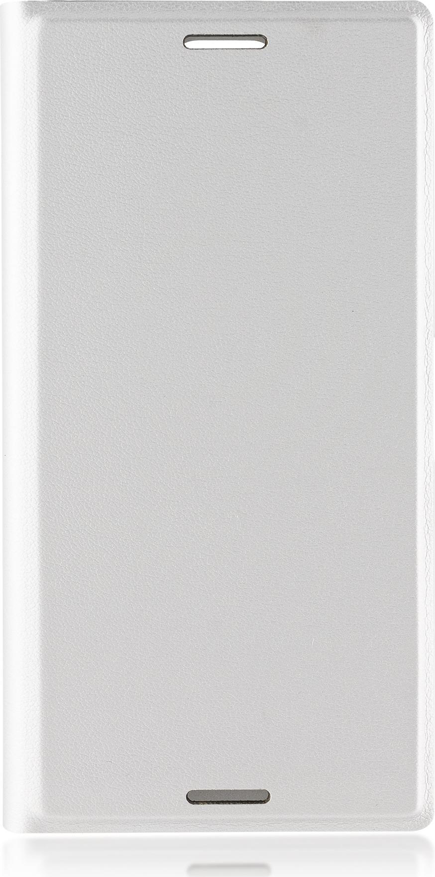 Чехол Brosco Book для Sony Xperia XZ1 Compact, серебристый