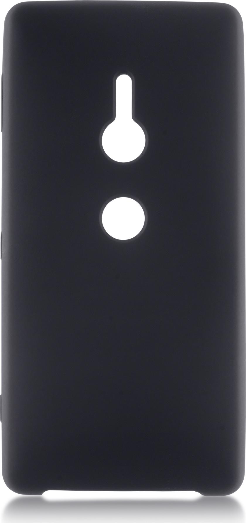 Чехол Brosco Softrubber для Sony Xperia XZ2, черный чехол для sony i4213 xperia 10 plus brosco силиконовая накладка черный
