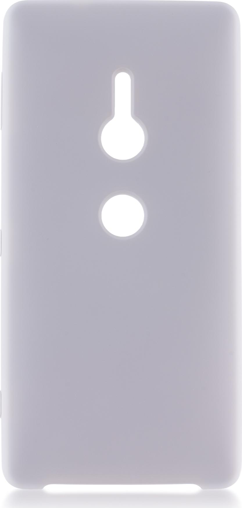Чехол Brosco Softrubber для Sony Xperia XZ2, серый wierss розовый для sony xz2
