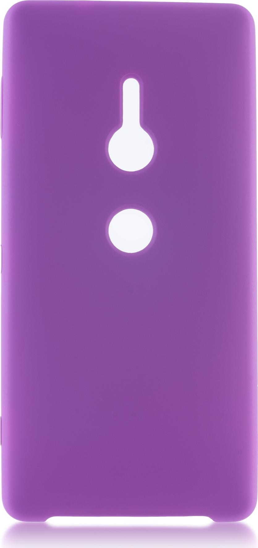Чехол Brosco Softrubber для Sony Xperia XZ2, фиолетовый wierss розовый для sony xz2